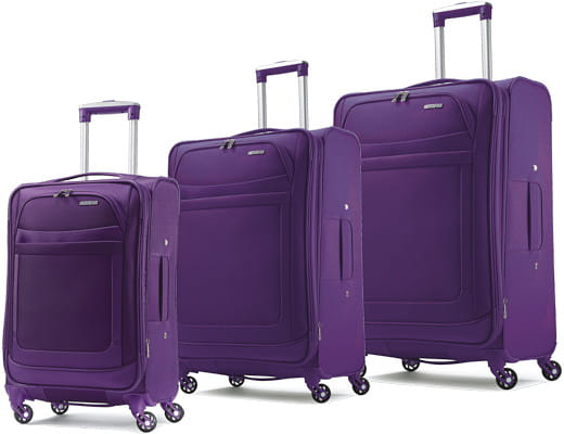american tourister ilite max spinner collection purple. Black Bedroom Furniture Sets. Home Design Ideas