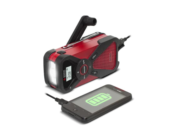 Eton Clipray Flashlight with Rechargeable Battery Hand Crank Cellphone Charger