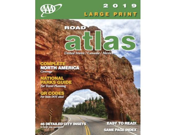 Aaa Car Loans >> AAA North America Large Print Road Atlas by Kappa Map Group - 2019 Edition