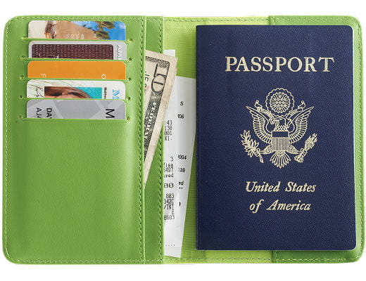 Smooth Trip® RFID Blocking Passport Wallet - Green
