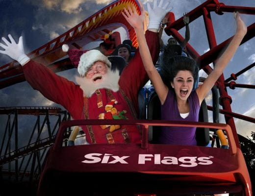 Six Flags Online Store Six Flags Online Store. Six Flags is a theme park located in several states across the United States, Mexico and Europe. If you want to purchase tickets or a season pass, you can visit a location or shop the online store.