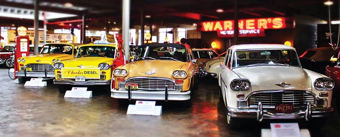Vintage Checker taxis