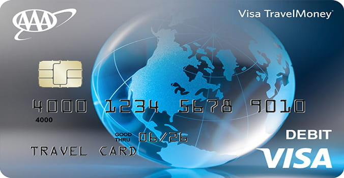 AAA Visa Travel Money Card in Blue
