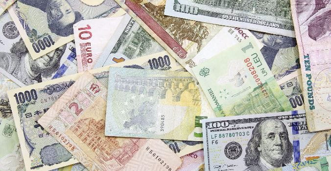 Paper money from all around the world