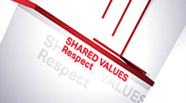 Words saying Shared Values Respect