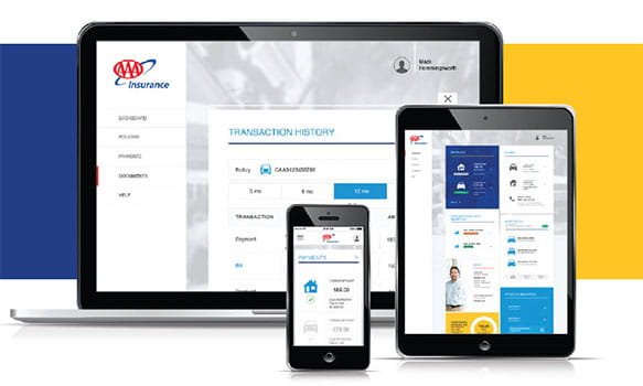 AAA Membership Policy on a Laptop, Table and Mobile Device