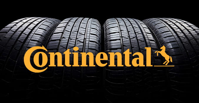 Set of tires with Continental tires logo