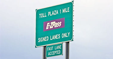 PA ezPass sign on highway