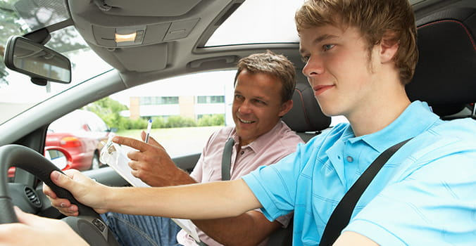 TEEN DRIVER WITH ADULT