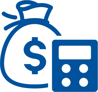 Blue Money Bag Calculator Debt Consolidation