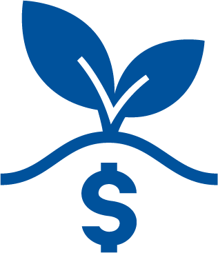 Blue Leaves Dollar Sign High Yield Savings Accounts