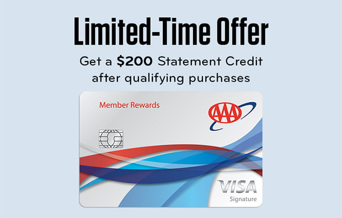 Limited time offer to get a $200 statement credit after qualifying purchases on Member Rewards Visa