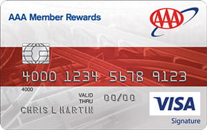 Front view of Member Rewards Visa credit card