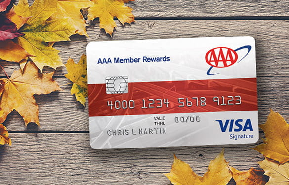 fall leaves with the member rewards visa card