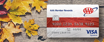 member rewards visa on fall leaves
