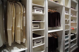 Wardrobe Closet with Clothes and Jewelry