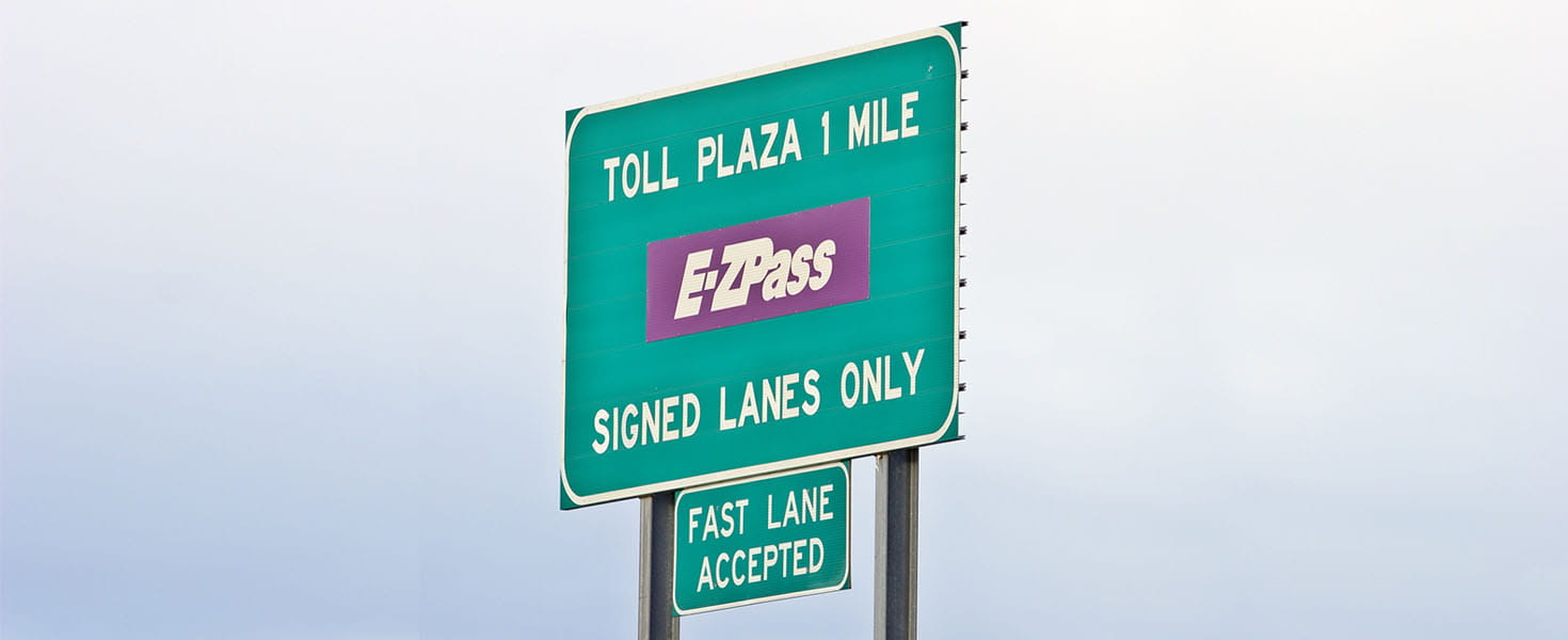 EZ Pass Sign on the Highway