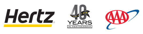 hertz 40th anniversary with AAA logo
