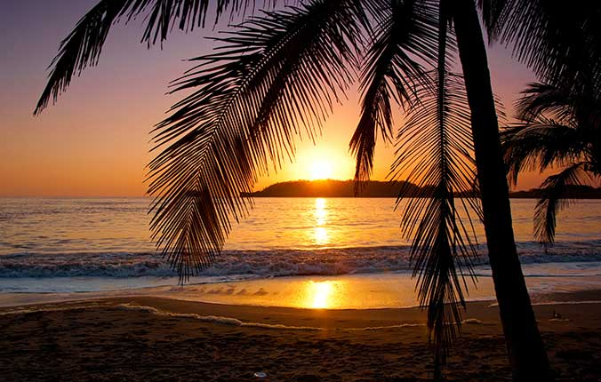 Beautiful sunset in Costa Rica
