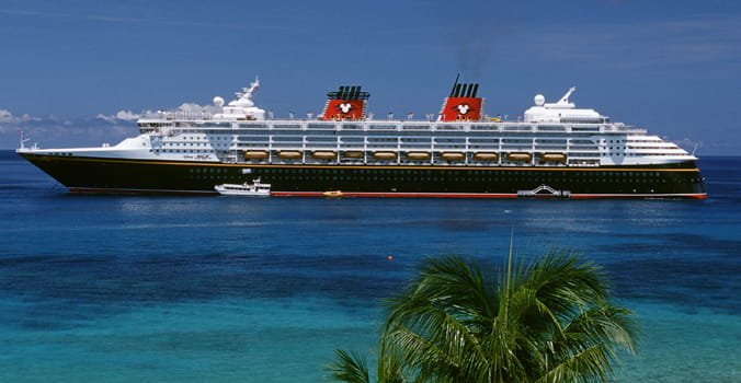 Disney Cruise ship arriving at Grand Cayman