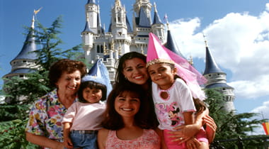 Family and kids enjoying disney workd together