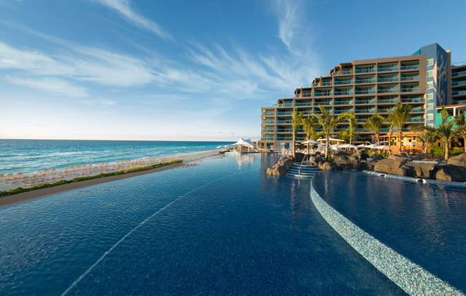 Infinity Pool at the Hard Rock Hotel in Cancun Mexico