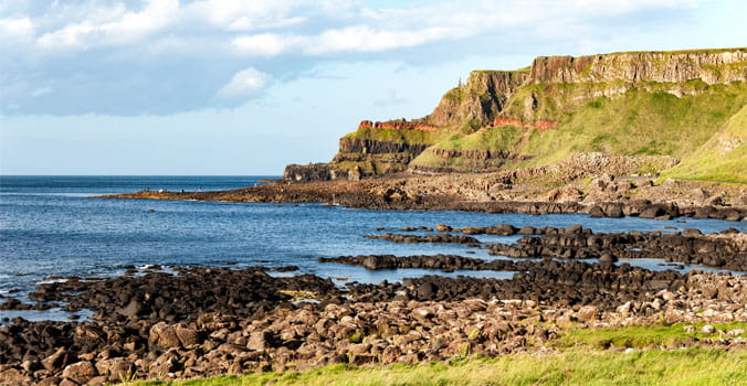 Giants Rocks and Cliffs in Antrim County, Northern Ireland