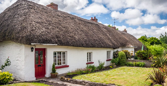Cottage in the village of Adare Ireland