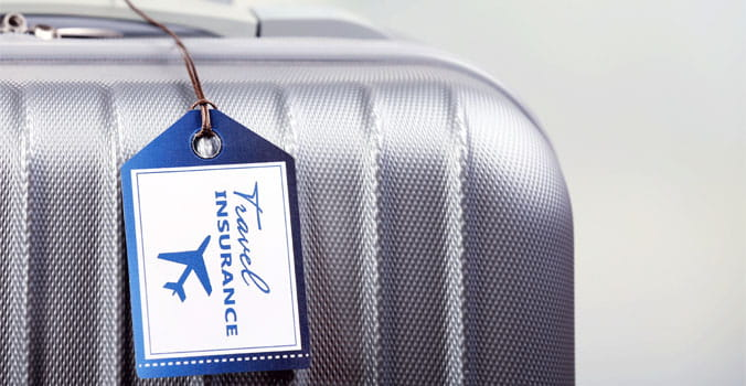Close up of luggage tag on luggage