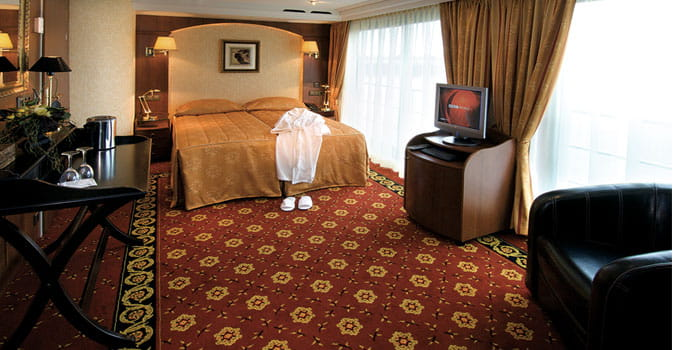 Beautiful room on Tauck cruise ship