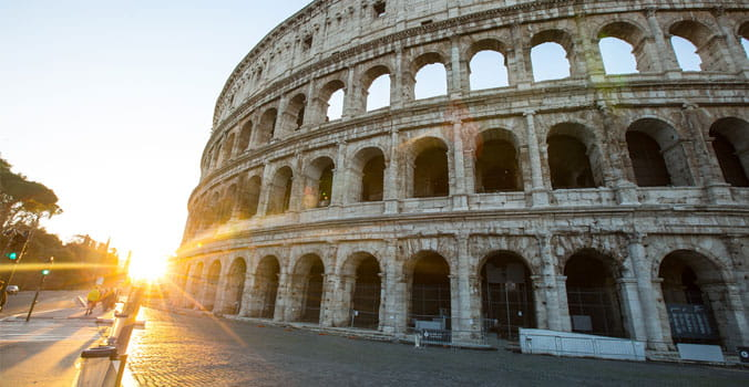 Colosseum rome view ,history famous landmark historic of italy