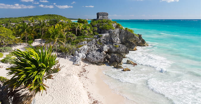 Old Maya Beach in Tulum - Mexico