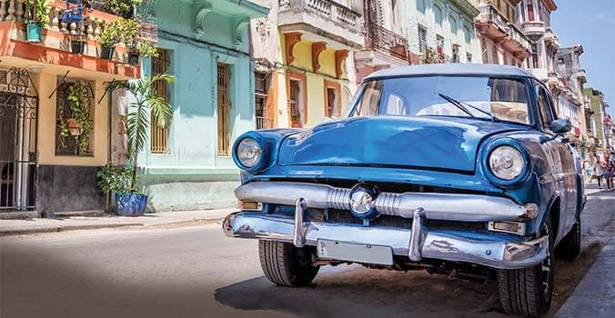 Old American car in Cuba