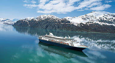 Holland America cruise ship in Alaska