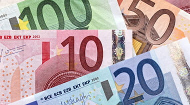 European banknotes, euros, money, currency