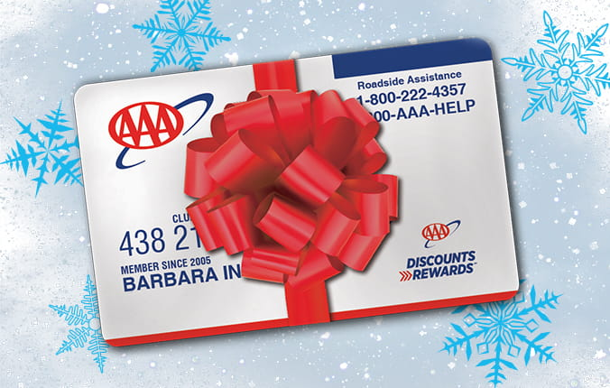 AAA card with bow on it. Give a gift membership.