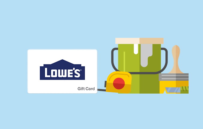 Members save on gift cards for Lowes.