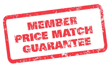 Member price match guarantee logo