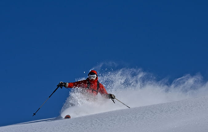Man skiing on mountain