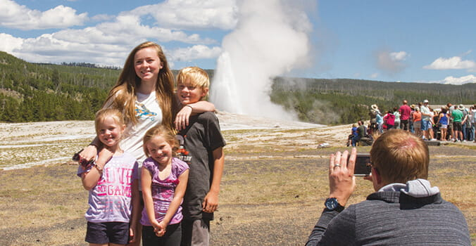 Old Faithful Family Photo