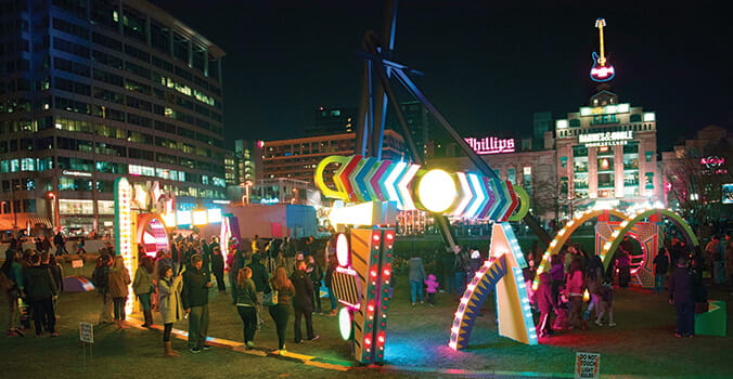 Light City in Baltimore, Maryland