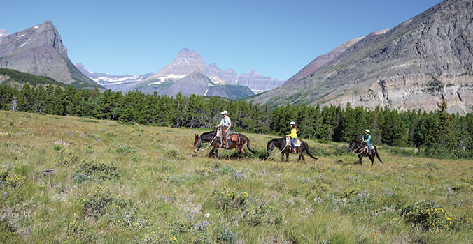 Horseback riding at National Park