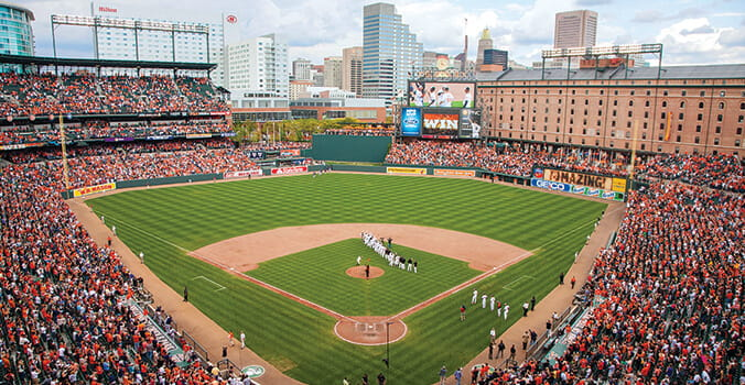 Camden yards in Baltimore, Maryland