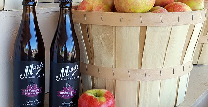 Wine and apples