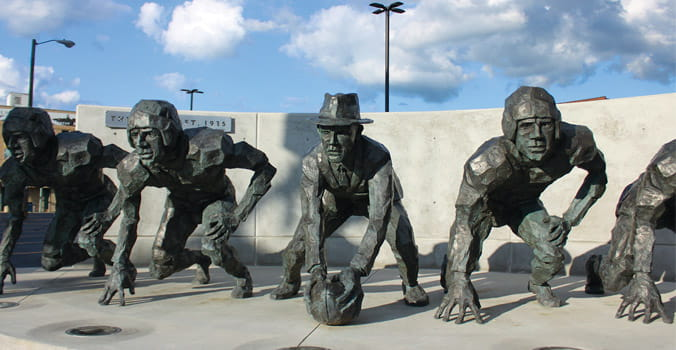 Pro Football Hall of Fame statues
