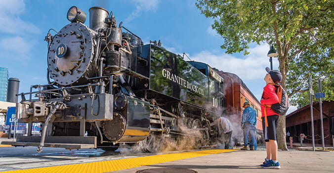 Old Sacramento Transcontinental Railroad