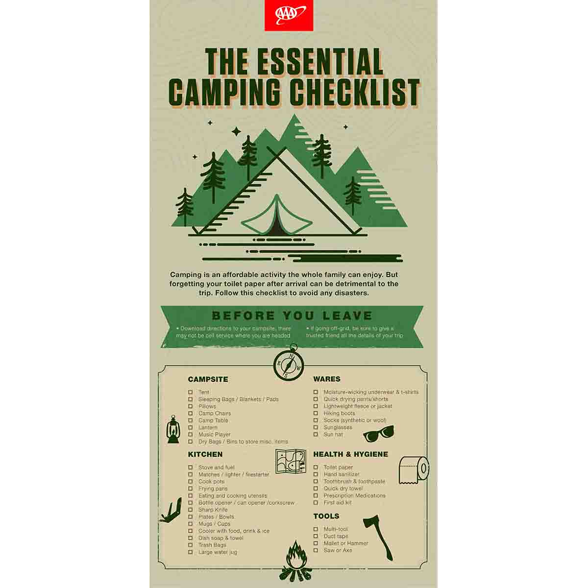 Essential Camping checklist