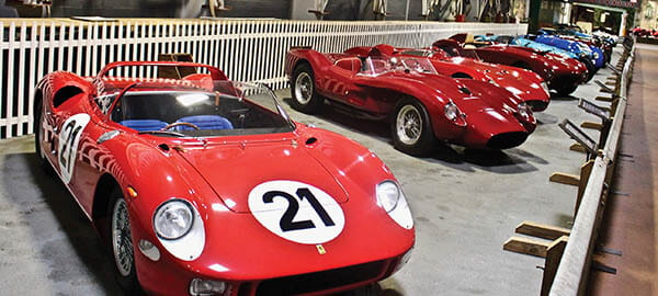 Simeone A row of European racers is led by a 1963 Ferrari 250P that won the 1963 Le Mans. Photo by Michael Milne