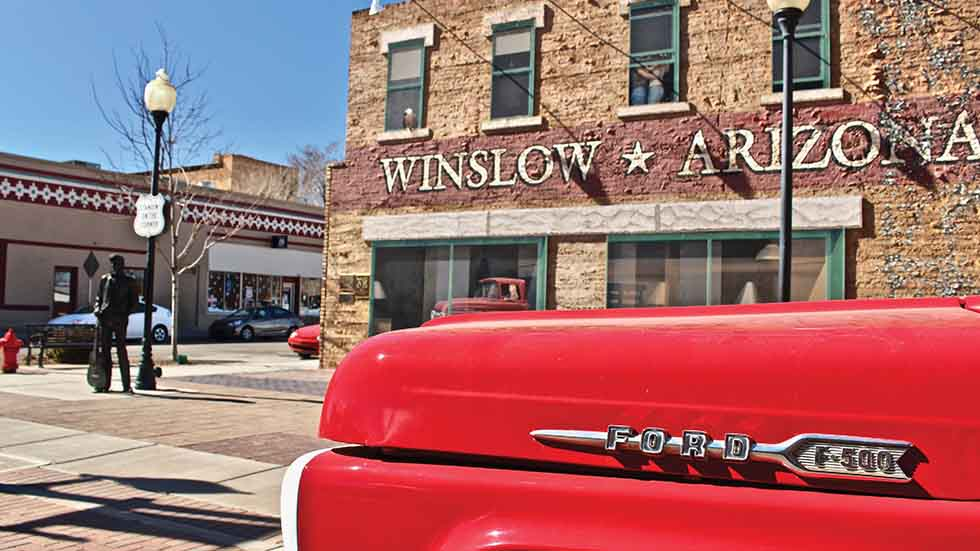 AZ Road Trip Such a fine sight to see. The famous corner in Winslow, Arizona. Photo by Larissa Milne