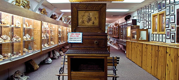 Pioneer Auto Show 1880 Regina Music Box still plays for a nickel Photo credit Travel South Dakota 60